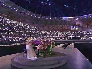 Lady Gaga Baku European Olympics