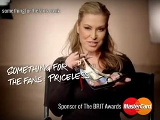 Anastacia at MasterCard Brit Awards Ad Break